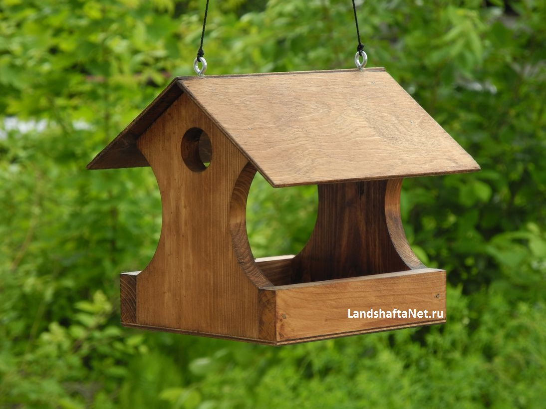 Кормушка для птиц своими руками из дерева чертежи фото